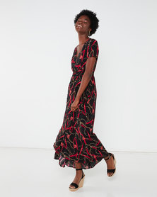 Queenspark Chain Pep It Up Woven Maxi Dress Multi