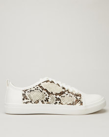 Queenspark Python Inset Trainers White