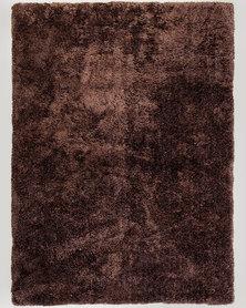 Lush Living Rug Comfort Shaggy Chocolate Brown 160 x 220