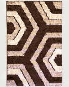 Lush Living Rug Numeri Collection Beige Shaggy 133x210