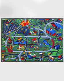 Lush Living Rug Kiddies City Train Map 120x170
