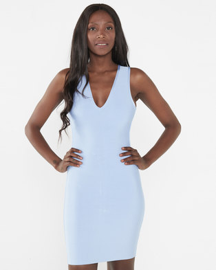 UrielP Haute Couture Bodycon Dress Light Blue