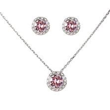 Civetta Spark Judy Set with Swarovski® Crystals- Light Rose