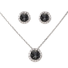 Civetta Spark Judy Set with Swarovski® Crystals- Silver Night