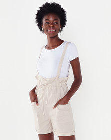 UB Creative Two Piece Dungaree Stone
