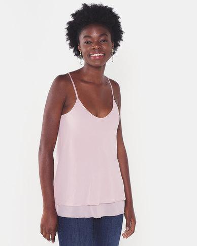 UB Creative Georgette Double Long Cami Pink