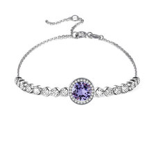 Civetta Spark Emma Bracelet With Swarovski Crystal- Tanzanite