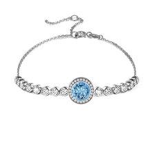 Civetta Spark Emma Bracelet With Swarovski Crystal- Aquamarine