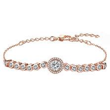 Civetta Spark Emma Bracelet With Swarovski Crystal- Clear Rosegold