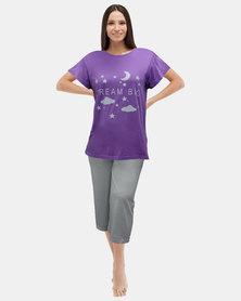 Club 7 Dream Big Pyjama Set Sleepwear