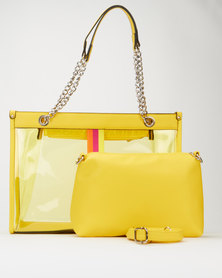 Queenspark Vinyl Double Bag Yellow