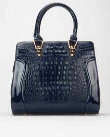 Queenspark Smart Croc Handbag Navy