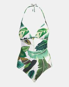 Beachcult Suzanna Swimwear One-Piece Camps Bay Leaf