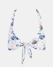 Beachcult Luna Swimwear Bikini-Top White Karoo