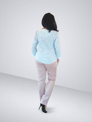 HEMISA - Dominique Floral Blouse - Light Blue
