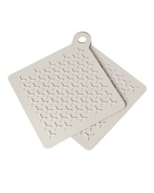 blomus Flip Silicone Potholders in Moonbeam Set of 2