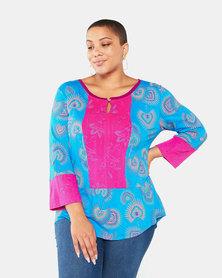 Maya Prass Aleeza Blouse Turquoise