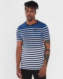 Klevas Pablo Stripe T-shirt Blue