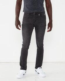 K-Star 7 Roast Skinny Denim Jeans Black