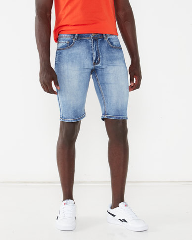 K-Star 7 Freeze Denim Shorts Light Blue