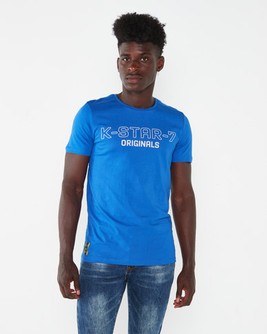 K-Star 7 Fashion HD Printed T-shirt Royal Blue
