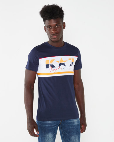 K-Star 7 Cobra Blocked T-shirt Navy