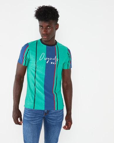 K-Star 7  Fredo Vertical Stripe T-shirt Green