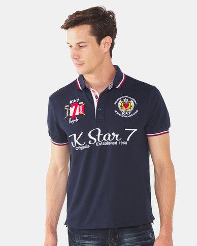 K-Star 7 Tobi 7 Embroidery Piquet Golfer Navy