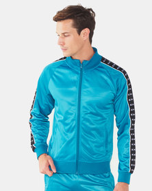 K-Star 7 Zip Through Track Top With Tape Detail Teal