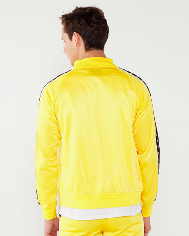 K-Star 7 Zip Through Track Top With Tape Detail Yellow