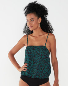 Paige Smith Georgette Camisole Green