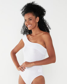 Paige Smith One Shoulder Top White