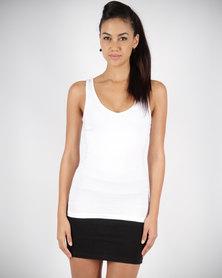 Betty Basics Mia V-Neck Tank Top White