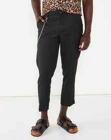 Bellfield Skaters Trouser with Chain Black