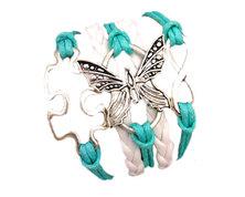 Urban Charm Autism Awareness Infinity Bracelet - Turquoise & White
