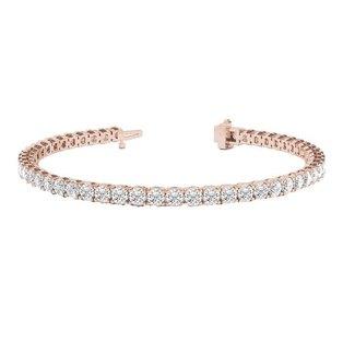 Civetta Spark Noah Tennis Bracelet- Rosegold with AAA Cubic Zirconia