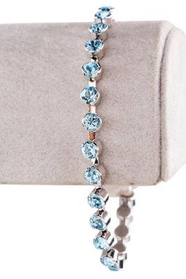 Civetta Spark Tiffany Cup Chain Bracelet - Made with Aquamarine Swarovski Crystal