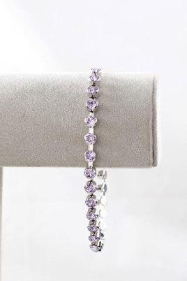 Civetta Spark Tiffany Cup Chain Bracelet with Swarovski Violet Crystal