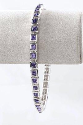 Civetta Spark Square Bracelet with Swarovski Tanzanite Crystal
