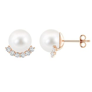 Civetta Saprk Mary stud with mother of pearl- Rosegold
