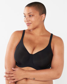 Playtex Plus Invisible Beauty Moulded Underwire Bra Black