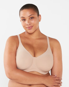 Playtex Plus Invisible Beauty Moulded Underwire Bra Beige