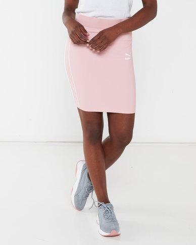 Puma Classics Rib Skirt Bridal Rose
