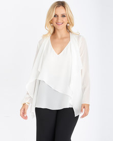 Contempo Soft Waterfall Jacket  Ivory