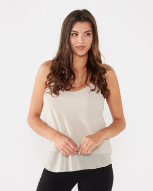 UB Creative Georgette Double Long Cami Stone