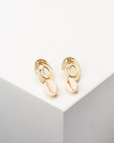 Lily & Rose Swirl Drop Earrings Gold