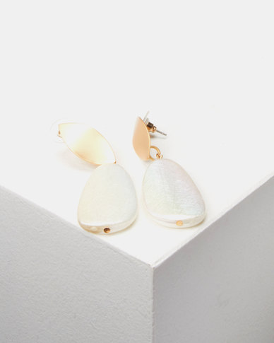 Lily & Rose Natural Drop Earrings Gold