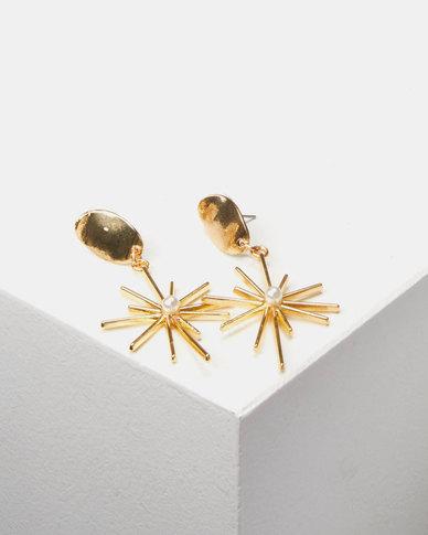 Lily & Rose Celestial Drop Earrings Gold