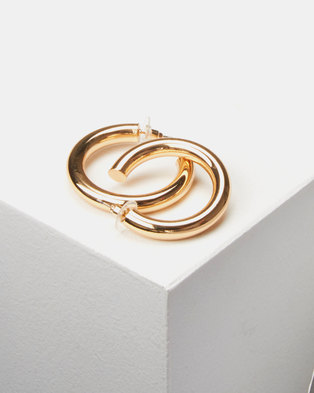 Lily & Rose Chunky Open Hoop Earrings Gold