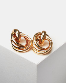 Lily & Rose Knotted Stud Earrings Gold